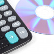 Calculator and DVD — Stock Photo