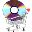 Stock Photo: Shopping cart and DVD