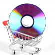 Shopping cart and DVD — Stock Photo #12185621