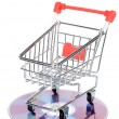 Shopping cart and DVD — Stock Photo #12185688