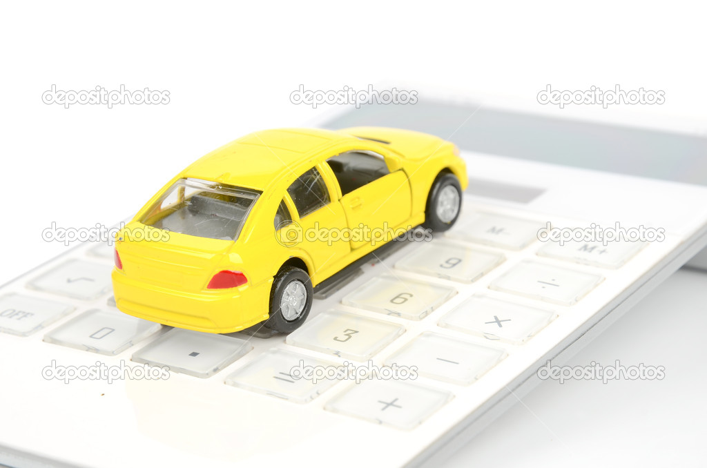 Toy car and calculator — Stock Photo #12187737