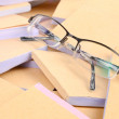 Documents and eye glasses — Stock Photo
