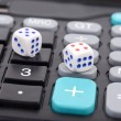 Dice and calculator — Stock Photo
