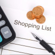 Shopping list — Foto de Stock