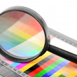 Magnifier and color card — Stock Photo #12246623