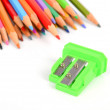 Color pencil and sharpener — Foto de Stock