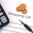 Shopping list - Foto de Stock