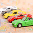 Toy car and map — Stock Photo #12285144