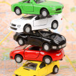 Toy cars on map — Foto de Stock