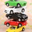 Toy cars on map — Stockfoto #12297711