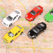 Toy cars on map — Foto de stock #12297945