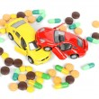 Toy cars and medicine — Stock Photo #12299032
