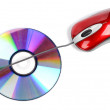 DVD and mouse — Stock Photo