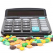Medicine and calculator — Stock Photo #12388804