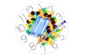 Take medicine on time — Stock Photo
