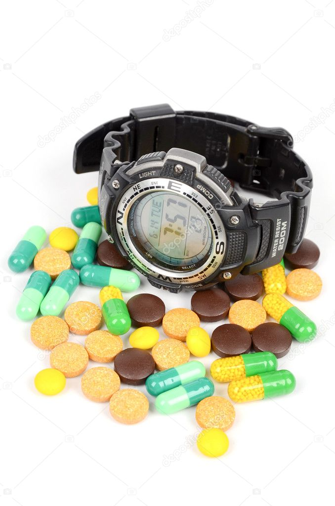 Take medicine on time — Stock Photo #12389040