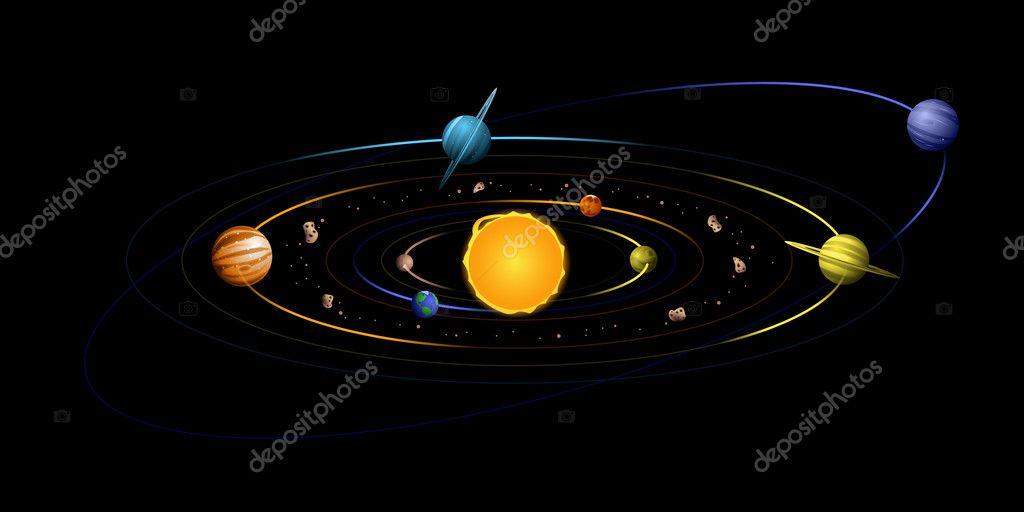 solar system diagram stock vector bigldesign 11448604 : solar system diagram - findchart.co