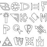 Superhero alphabet — Stock Vector