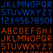 Stock Vector: Neon alphabet font