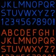 Neon alphabet font — Stock Vector #11928398