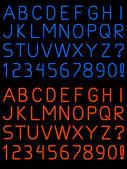 Neon alfabet czcionki — Wektor stockowy