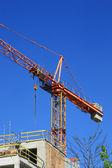 Crane, construction — Stock Photo