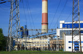 Power station, powerhouse, generating station, — Stock Photo