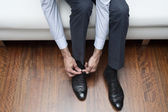 Fasten shoes — Stock Photo