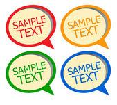 Vector sticker for text — Stock Vector