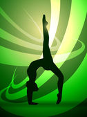 Silhouettes gymnastics — Stock Vector