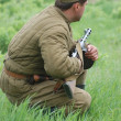 WWII reenactment — Foto de Stock