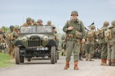 WWII reenactment — Stock Photo