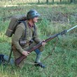 WWII reenactment - Stock Photo