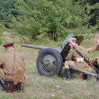 WWII reenactment - Foto de Stock