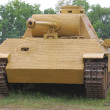 German tank (replica) during historical reenactment of WWII — Stock Photo