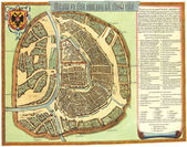 Moscow old map — Stock Photo