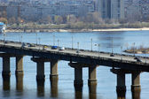 Bridge across Dnepr river. — Stock Photo