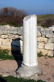 Ruins of ancient greek colony Khersones — Stock Photo