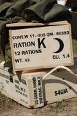 American military box WWII time — Stock Photo