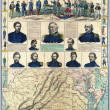 US Civil War map — Foto Stock