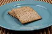 Plaque d'immatriculation bleue à l'intérieur les biscuits — Photo