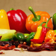 Chilli pepper still life — Stock Photo
