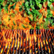 Charcoal fire grill — Stock Photo #11737258
