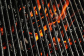 Charcoal fire grill — Stock Photo