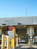 USA border inspection station — Stock Photo