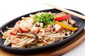 удон с морепродуктами — Стоковое фото