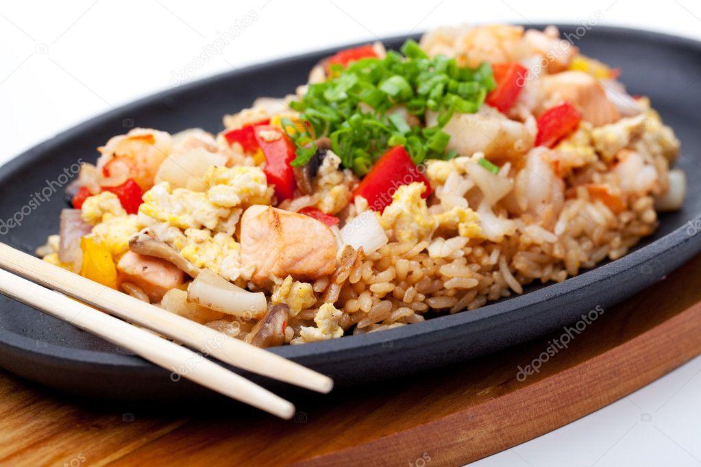 Рис с курицей по-японски с фото