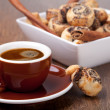 Cookies and coffee cup - Stockfoto