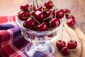 Bowl of fresh cherry — Stock Photo