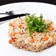 Rice with green onions — Stock Photo